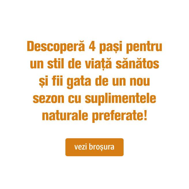 Descoperă 4 pași pentru un stil de viață sănătos și fii gata de un nou sezon cu suplimentele naturale preferate!